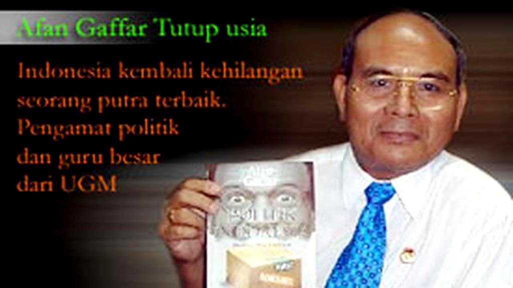 Sepenggal Kisah Afan Gaffar dan Mahfud MD